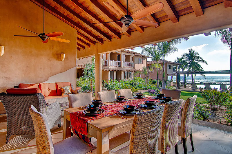 Villas Troncones Villa Five Dining Room Pool Beach View Beach Yoga