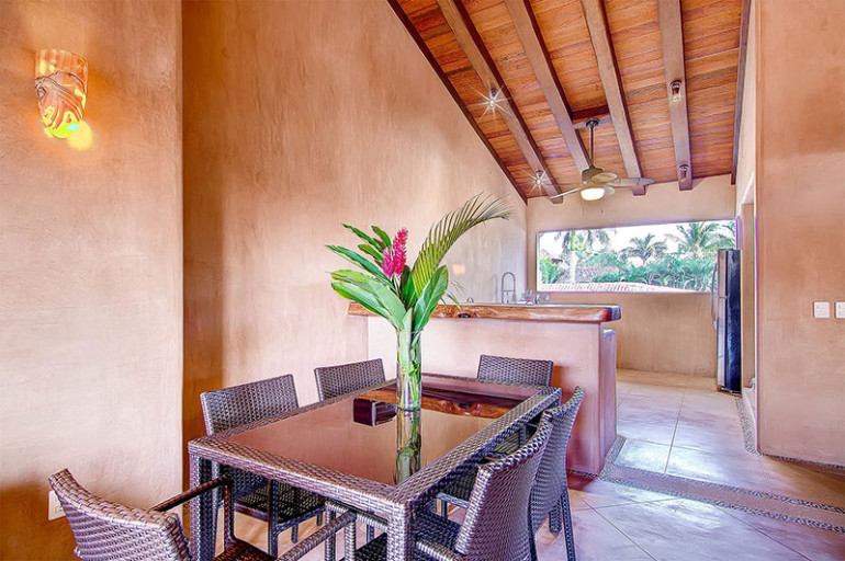 Villas Troncones Villa Nine Dining Room Beach Yoga