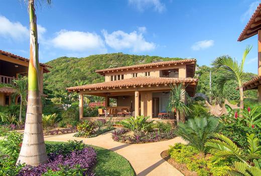 Villas Troncones Villa Five Exterior Hillside View BIkram Yoga